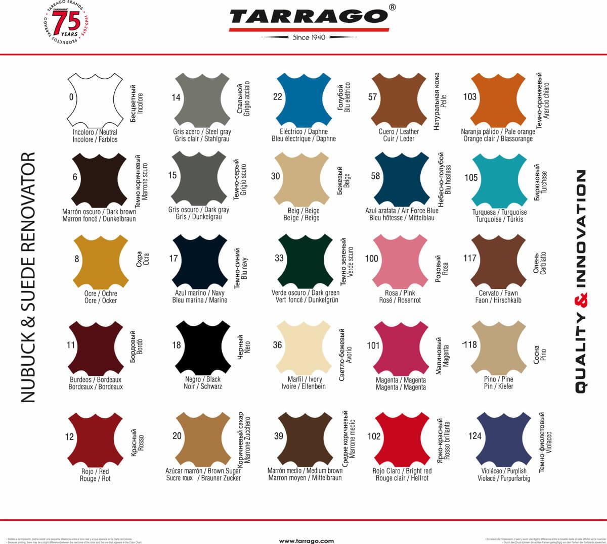 tarrago_color_chart_suede_renovator