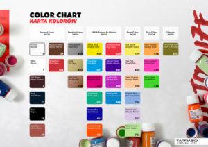 Karta kolorów Tarrago Sneakers Paint