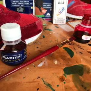 Malowanie zamszu.