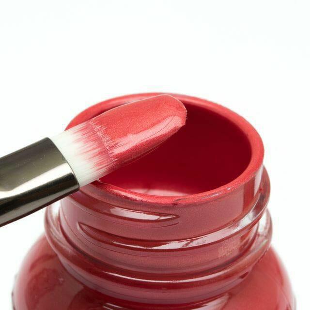 Czerwone perłowe farby akrylowe do butów