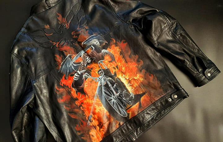 Malowanie skórzanych kurtek motocyklowych