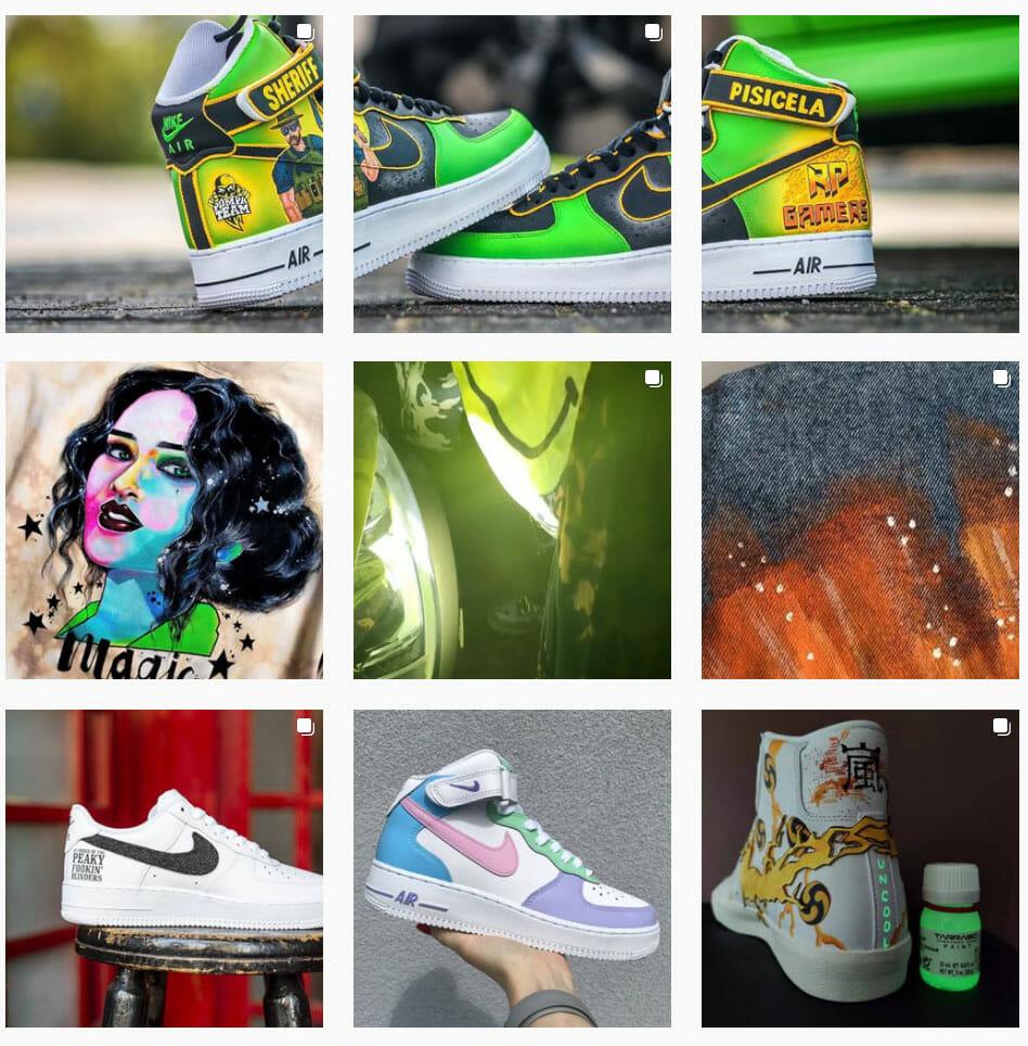 KOntakt do customizera, malowanie butów, jeansu i akcesoriów