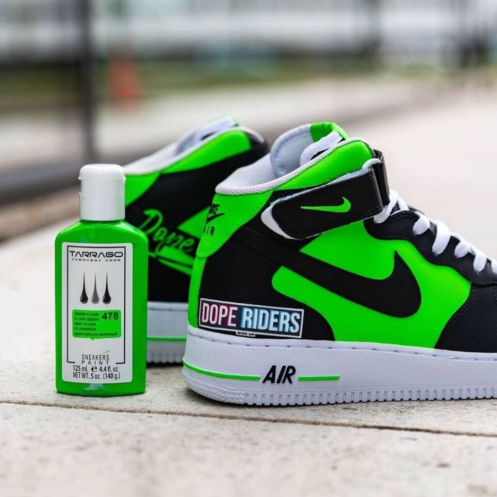 Custom nike af1 mid, rękodzieło, diy, akrylowa farba do butów