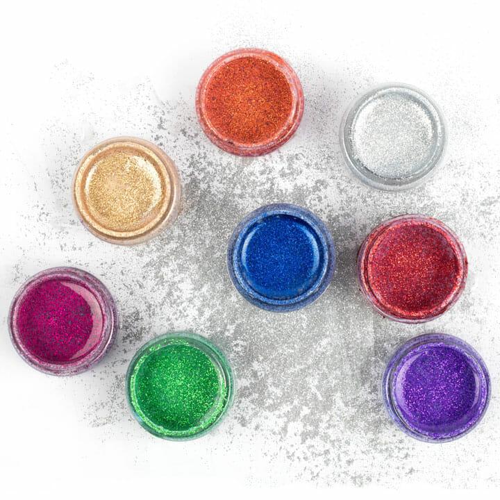 Kolorowe farby akrylowe z brokatem do butów, ubrań, jeansu, diy, rękodzieło