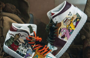 Customizacja sneakersów - efekt glow in the dark custom nike