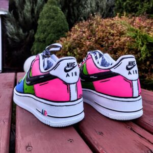 Custom Nike af1 cartoon candy i farby akrylowe do personalizacji obuwia