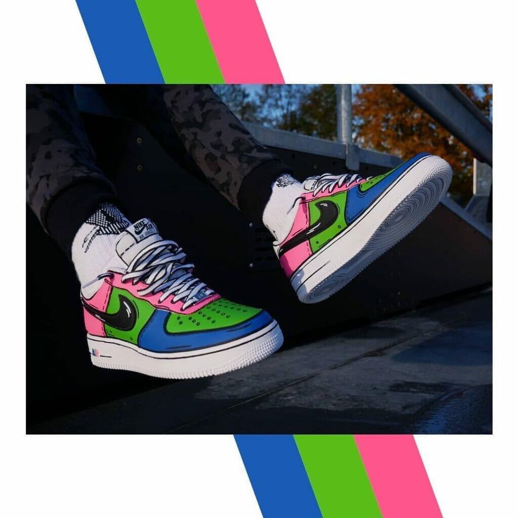 Custom Cartoon Candy i farby akrylowe do butów tarrago sneakers paint