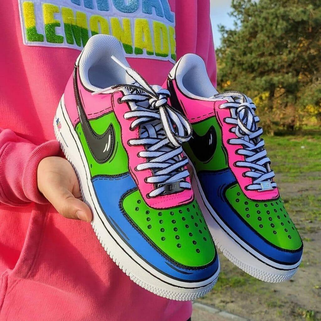 Custom af1 cartoon candy un__cool farby akrylowe tarrago