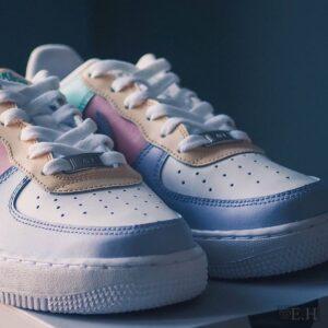 Pomalowane buty w kolorach pastelowych, customizacja, diy, rękodzieło