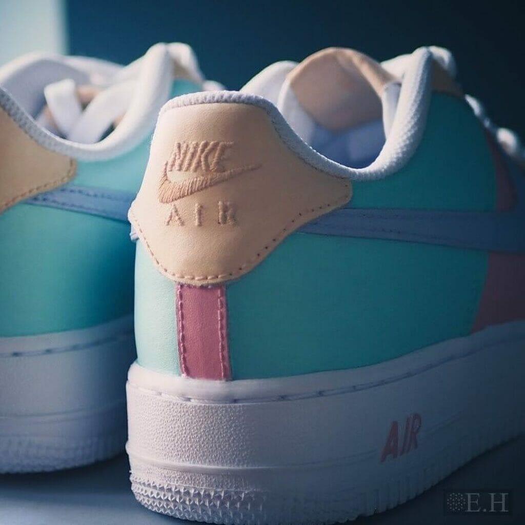 Pastelowy custom farby tarrago sneakers paint szuz.em