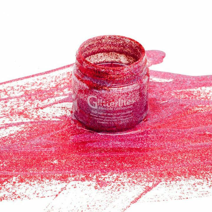 Czerwona farba brokatowa do rekodziela customizacji diy