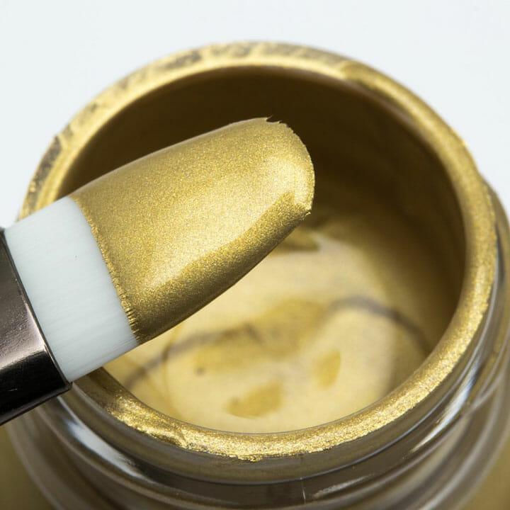 Złota perłowa farba opalizująca do customizacji butów, skór, tkanin, jeansu