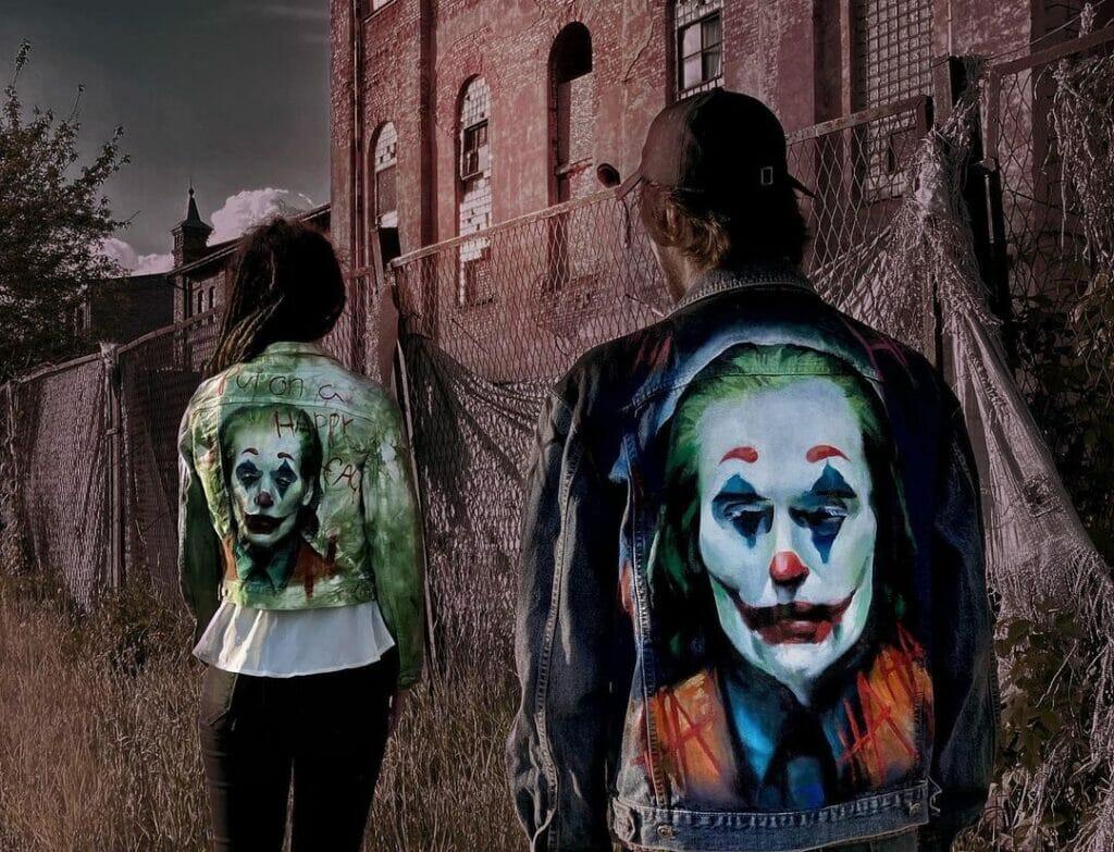 Joker Custom, ręcznie malowana katana jeansowa