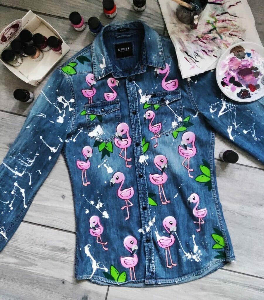 Rękodzieło na odzieży, malowane ubrania