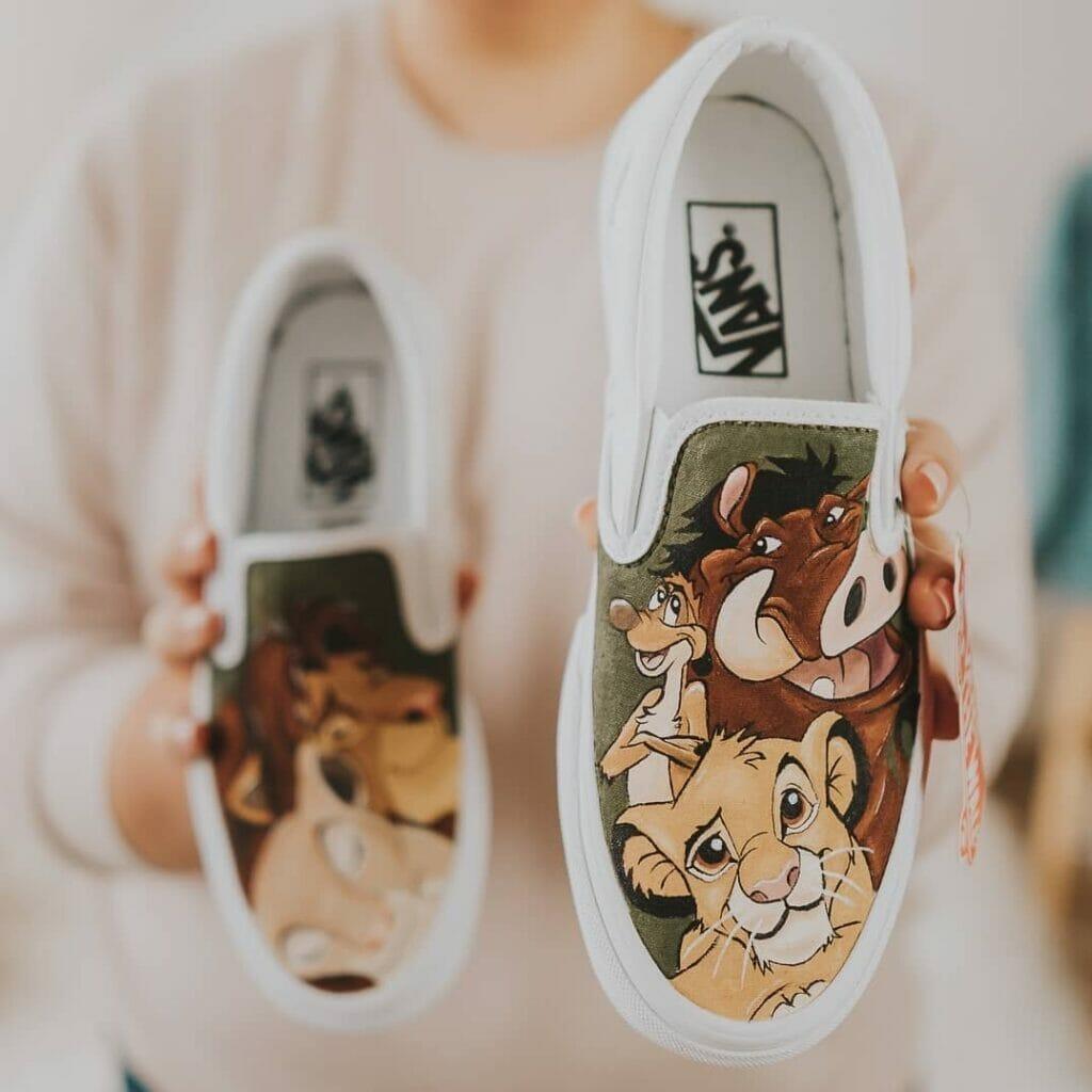 Custom vans, farby do butów