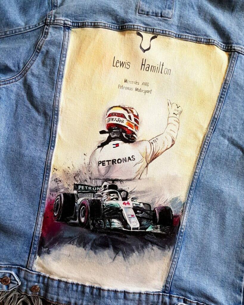 Custom f1 jeans - malowanie denimu