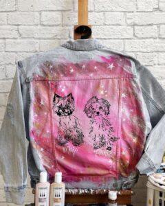 Pomysł na prezent, ręcznie malowana katana jeansowa