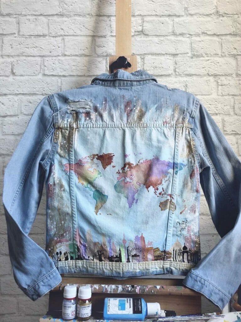 podróże custom denim jeans - farby do tkanin