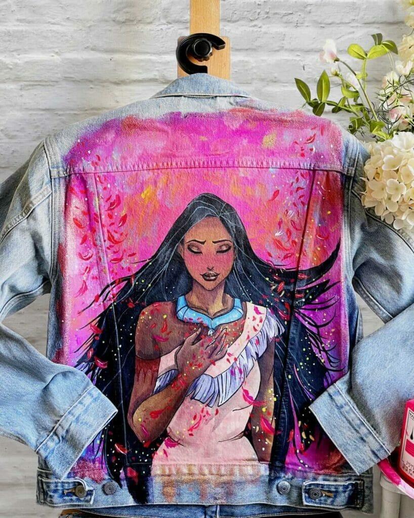 Pomysł na prezent - ręcznie malowana kurtka