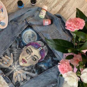 Farby akrylowe do jeansu. Personalizacja, custom.