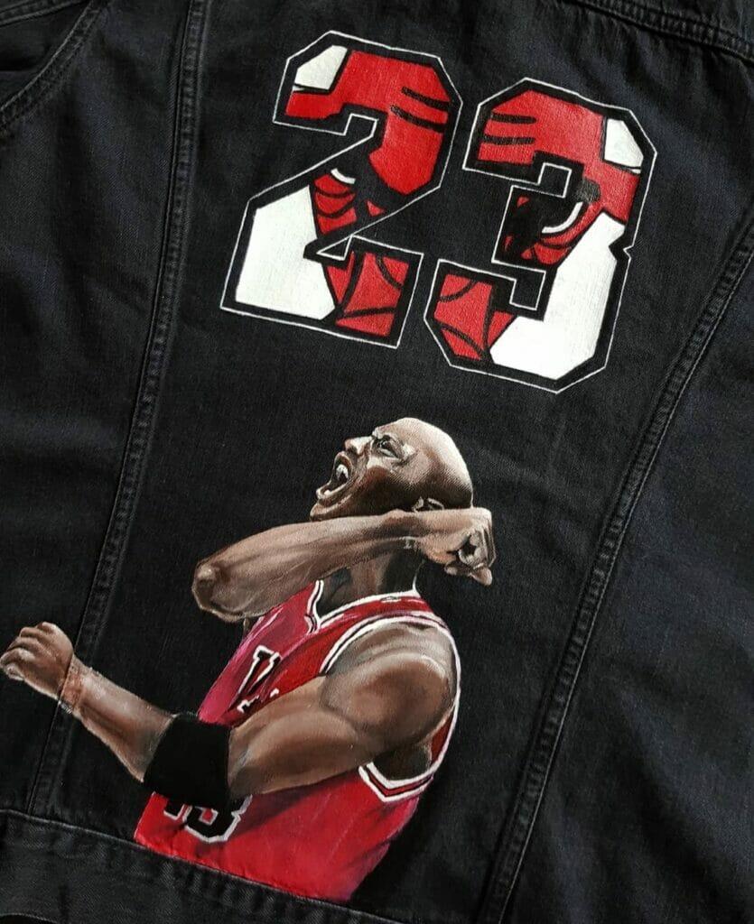 Air Jordan Basketball Custom Jeans - farby akrylowe