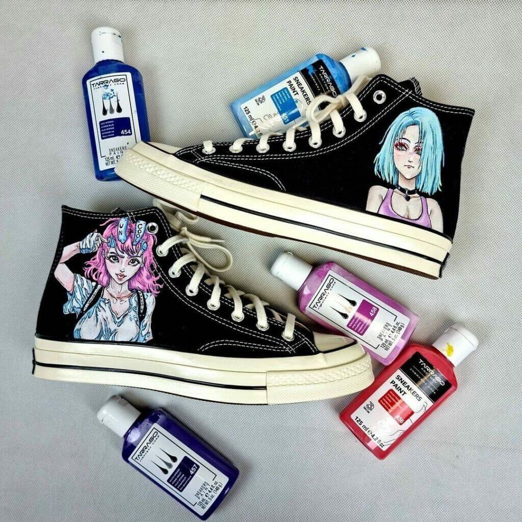 Akryle do tekstyliów, butów