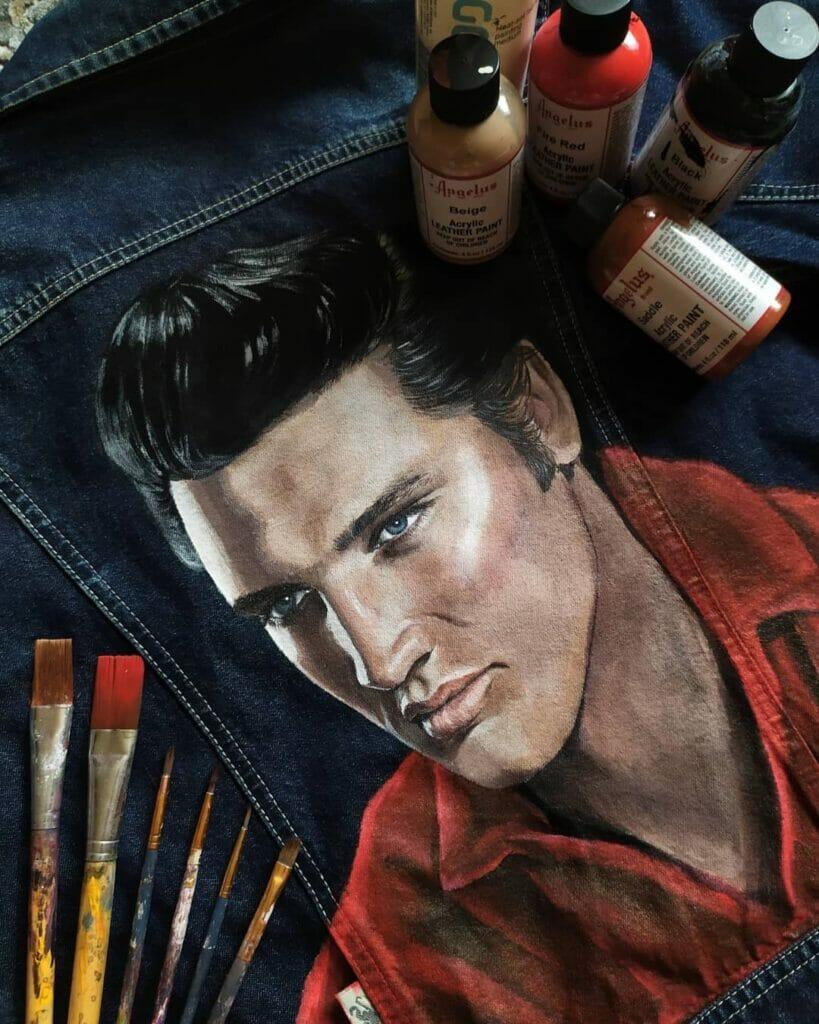 Custom elvis presley jeans farby do ubrań