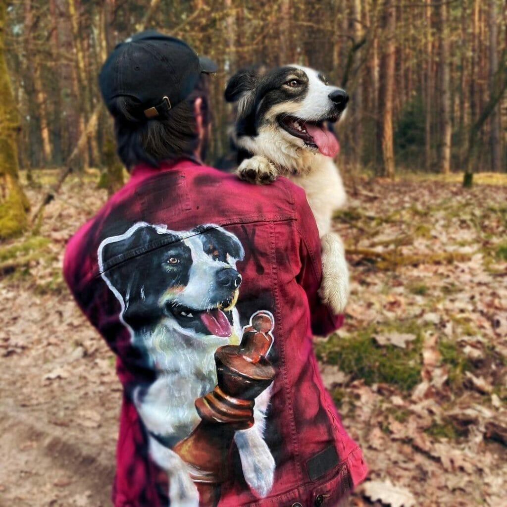 Prezent dla miłośnika psów, ręcznie malowane ubrania