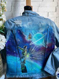 harry poter custom jeans - farba do odzieży