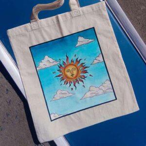 Rękodzieło torba ręcznie malowana prezent