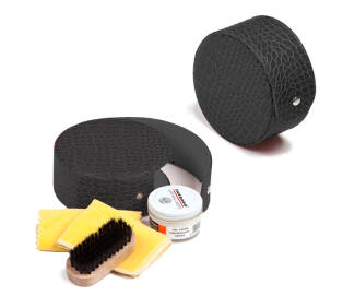 TARRAGO Kit Shoe Care Travel Black
