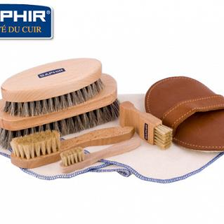 SAPHIR BDC Set Smooth Brushes Big