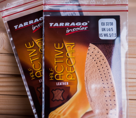 Półwkładki do butów - TARRAGO Insoles Leather Half Active Pecari