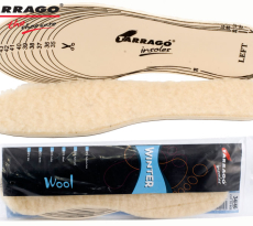 TARRAGO Insoles Winter Wool Cut