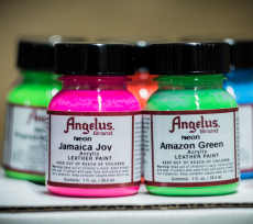 ANGELUS Acrylic Leather Paint Neon 1oz