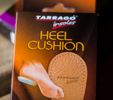 TARRAGO Insoles Leather Heel Cushion 10mm