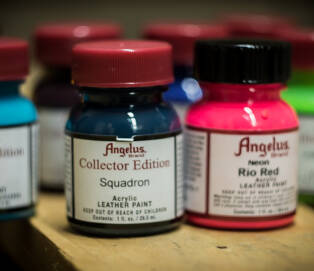 ANGELUS Set 6 Acrylic Leather Paint Collector Edition 3x 1oz