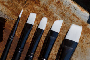 ANGELUS Paint Brush Set of Five