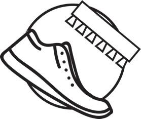 Usuń kurz i brud z powierzchni butów / skóry / materiału